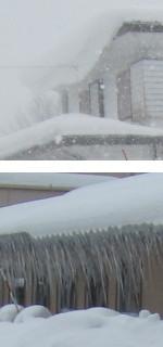 雪庇とツララの負担
